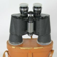 Antigüedades: PRISMATICOS MARCA HALINA CON FUNDA DE CUERO. 10 X 50. COATED OPTICS.. Lote 49892539
