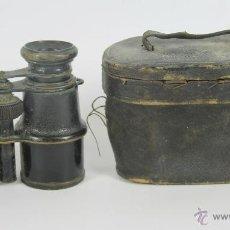 Antigüedades: PRISMATICOS CON FUNDA EN PIEL SIGLO XIX.. Lote 48804879