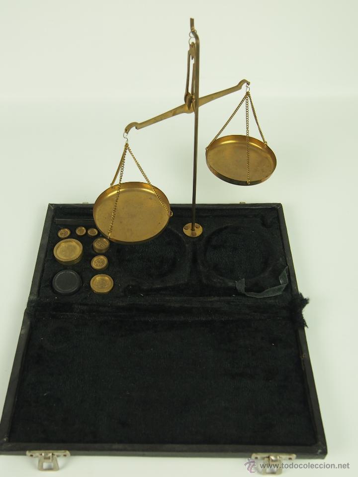 BALANZA QUILATERA. BRONCE. SIGLO XIX. (Antiquitäten - Technische - Waagen und Gewichte - Antike Balkenwaagen)