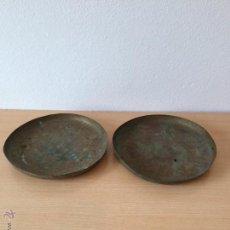 Antigüedades: PAREJA DE PLATOS ANTIGUOS PARA BÁSCULA O BALANZA. Lote 54825358