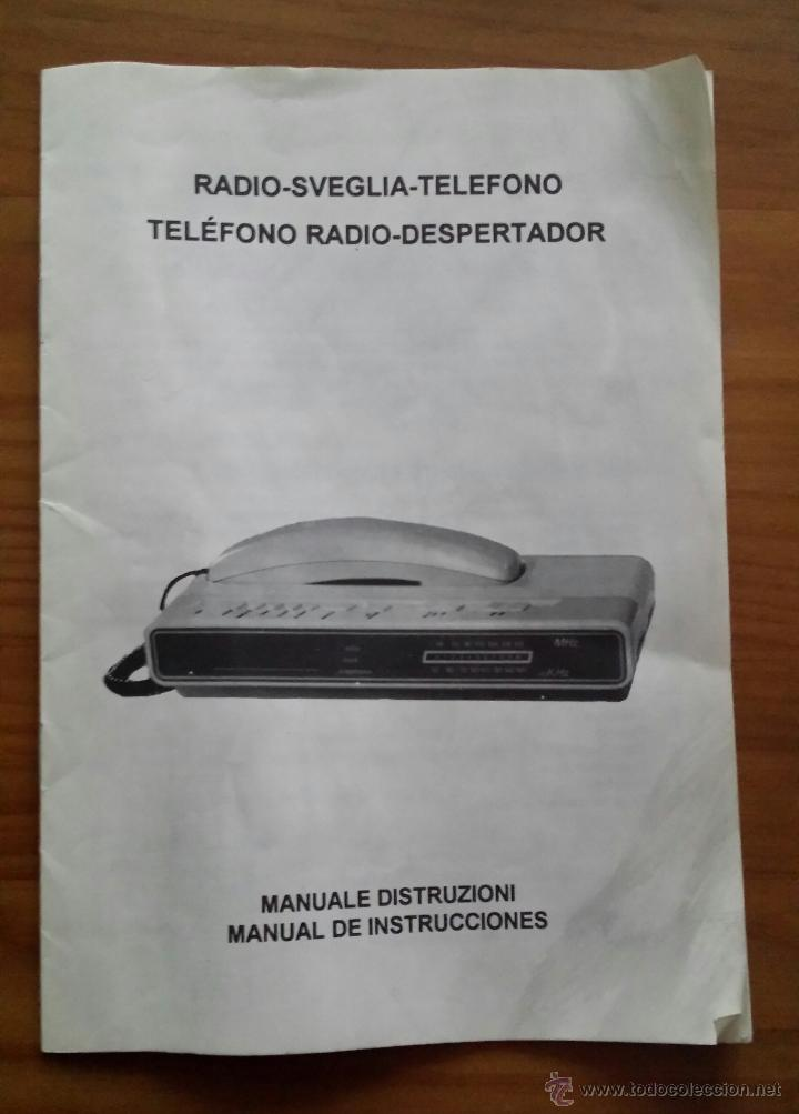 Teléfonos: RADIO TELÉFONO DESPERTADOR HITACH PH 101. FUNCIONANDO. RELOJ. - Foto 8 - 54837021
