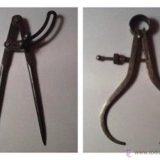 Antigüedades: 2 COMPÁS ANTIGUOS DE CALDERERO. Lote 45115239