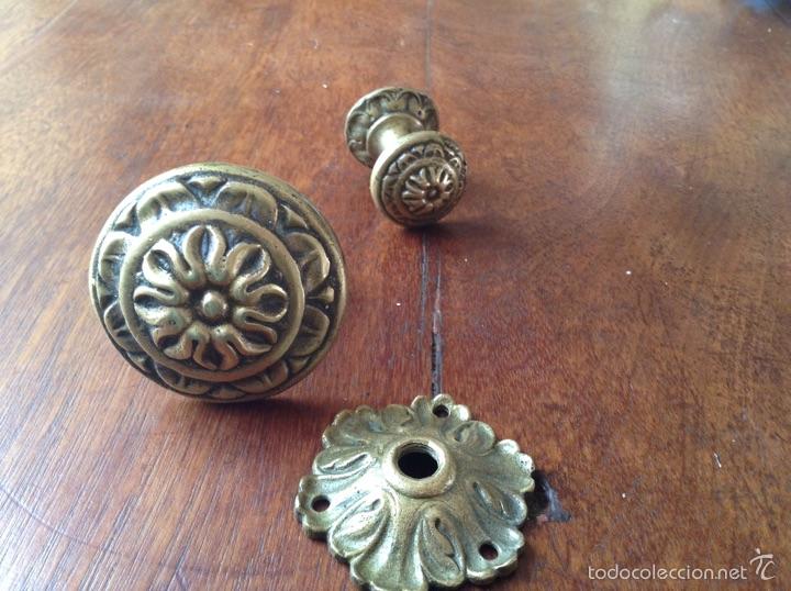 Antigüedades: Tiradores bronce y regalo - Foto 3 - 54852973