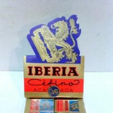 Antigüedades: 100 HOJAS DE AFEITAR IBERIA CEFIRO ACANALADA. 10 CAJAS PRECINTADAS. A ESTRENAR, VER. Lote 54869324