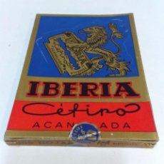 Antigüedades: 100 HOJAS DE AFEITAR IBERIA CEFIRO ACANALADA. FABRICACION ESPAÑOLA. CAJA A ESTRENAR. VER. Lote 54869441