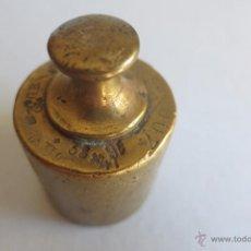 Antigüedades: PESA DE 200 GRAMOS SUIZA CON MUCHOS SELLOS 1914. Lote 54869603