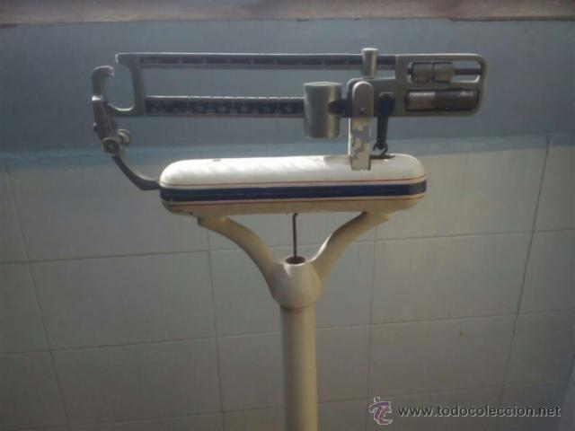 Antigüedades: Báscula de hierro, marca PARRA. Años 50 . Fza 150. Sin restaurar. Vintage. - Foto 3 - 54884920