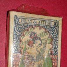 Antigüedades: PAQUETE SIN ESTRENAR DE HOJAS DE AFEITAR SEVILLANA 10 HOJAS. FABRICANTE BASSAT S.A. BARCELONA. Lote 54915872