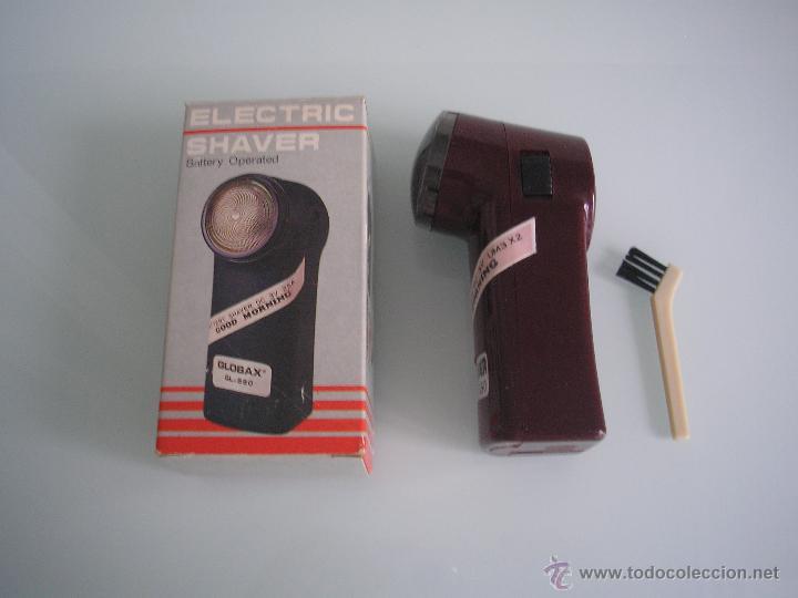 MÁQUINA DE AFEITAR ELECTRIC SHAVER GLOBAX MODELO GL-550 CON BATERÍA - VINTAGE (Antigüedades - Técnicas - Barbería - Maquinillas Antiguas)