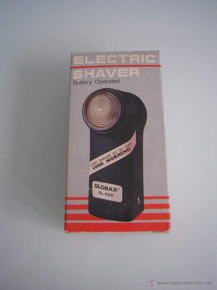 Antigüedades: Máquina de afeitar Electric Shaver Globax Modelo GL-550 con batería - Vintage - Foto 2 - 54921023