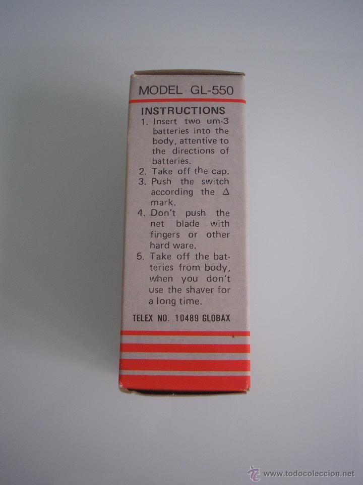 Antigüedades: Máquina de afeitar Electric Shaver Globax Modelo GL-550 con batería - Vintage - Foto 5 - 54921023
