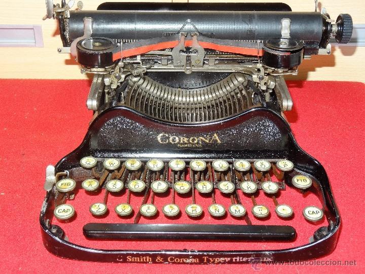 ANTIGUA MAQUINA DE ESCRIBIR SMITH CORONA MODELO 3 PLEGABLE (Antigüedades - Técnicas - Máquinas de Escribir Antiguas - Smith)