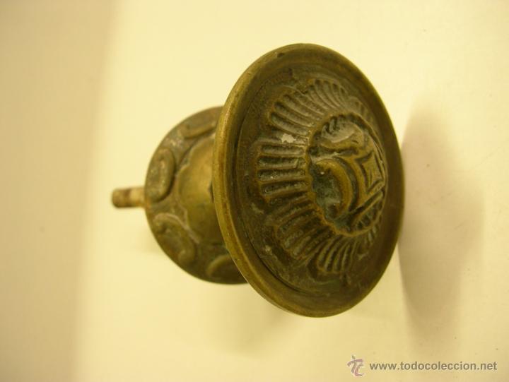 TIRADOR BRONCE (Antigüedades - Técnicas - Cerrajería y Forja - Tiradores Antiguos)
