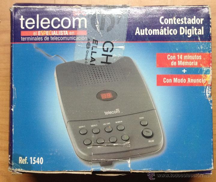CONTESTADOR TELECOM FUNCIONA (K) (Antigüedades - Técnicas - Teléfonos Antiguos)