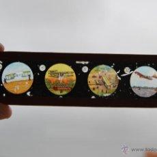 Antigüedades: ANTIGUA PLACA DE CRISTAL PARA LINTERNA MÁGICA - PROYECTOR - AVIÓN - AVIONES - CIRCA 1900. Lote 54957675