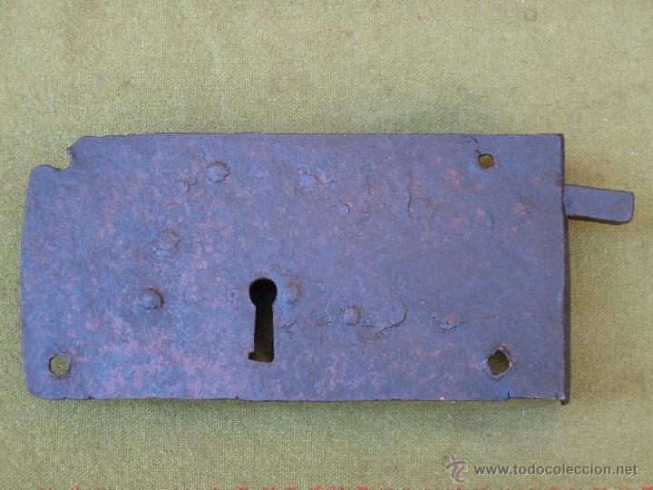 Antigüedades: CERRADURA ANTIGUA EN HIERRO FORJADO - SIGLO XVII - XVIII. - Foto 5 - 54984471