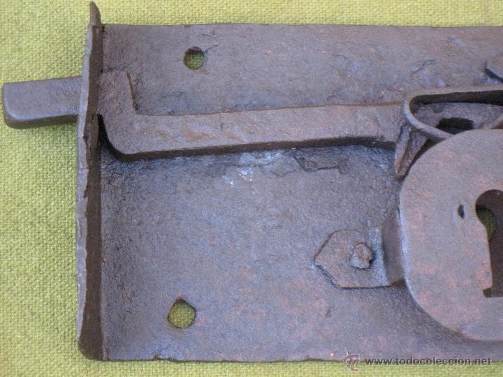 Antigüedades: CERRADURA ANTIGUA EN HIERRO FORJADO - SIGLO XVII - XVIII. - Foto 6 - 54984471