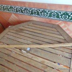 Antigüedades: ANTIGUO METRO EN MADERA DE HAYA QUE SE UTILIZABA PARA MEDIR LAS VENTAS EN TIENDAS DE TELA Y RETALES. Lote 55043198