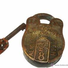 Antigüedades: ANTIGUO Y RARO CANDADO DE BRONCE L.K.FACTORY. Lote 54542915