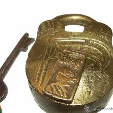 Antigüedades: ANTIGUO Y RARO CANDADO DE BRONCE.. Lote 54543039