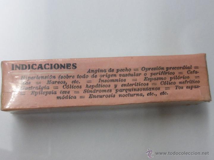 Antigüedades: Antigua botella frasco caja de farmacia, Papaverlumin pidefé con belladona, precintada - medicamento - Foto 6 - 55069771
