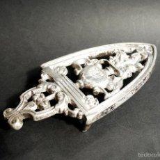 Antigüedades: POSAPLANCHAS DE ALUMINIO DE 21 CM DE LARGO POR 10 CM DE ANCHO. Lote 55103948