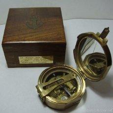 Antigüedades: BRÚJULA PARA LA MARINA. CON CAJA DE MADERA.. Lote 55124469