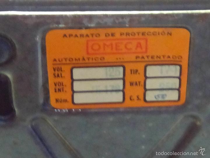 Antigüedades: ANTIGUO TRANSFORMADOR-ELEVADOR. OMEGA. AÑOS 60. DESCRIPCION Y FOTOS. - Foto 5 - 55130809