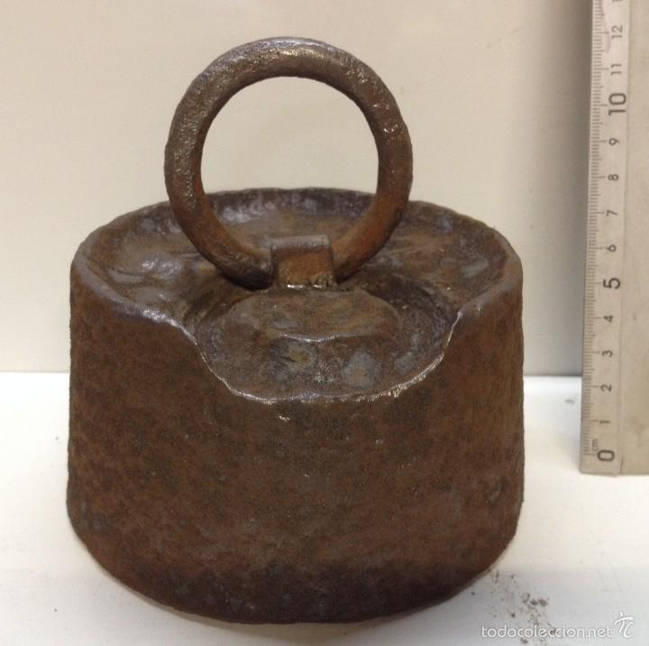 ANTIGUA PESA 5KG (Antigüedades - Técnicas - Medidas de Peso Antiguas - Otras)