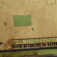 Antigüedades: LATA BOTE FRANCOIL FRANCOS INDUSTRIAS METALGRAFICAS BARCELONA PENSYLVANIA AÑOS 30. Lote 55146635