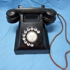 Teléfonos: ANTIGUO TELEFONO DE BAKELITA NEGRO MUY PESADO AEP. Lote 55149650
