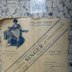 Antigüedades: SINGER - ANTIGUAS LÁMINAS DE BORDADOS CON LA MÁQUINA DE COSER SINGER DE BOBINA CENTRAL U HORIZONTAL. Lote 55346668
