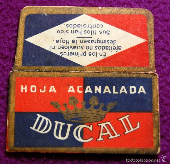 FUNDA DE HOJA DE CUCHILLA DE AFEITAR ANTIGUA - DUCAL. (Antigüedades - Técnicas - Barbería - Hojas de Afeitar Antiguas)