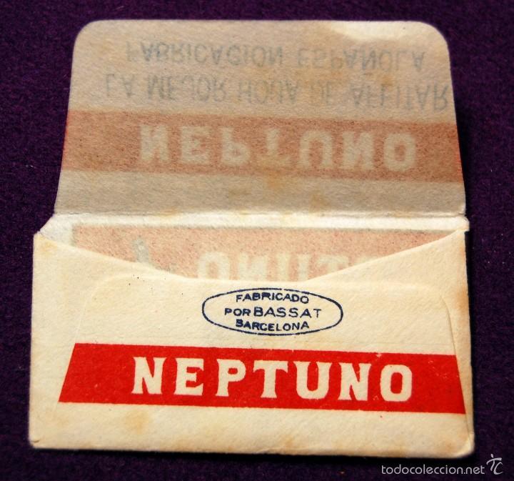Antigüedades: FUNDA DE HOJA DE CUCHILLA DE AFEITAR ANTIGUA - NEPTUNO. ACANALADA. - Foto 2 - 237324510
