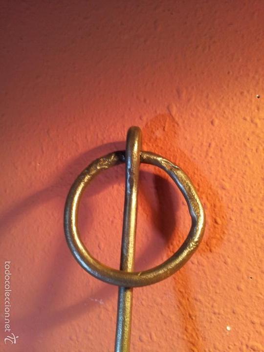 Antigüedades: JUEGO PESTILLO PASADOR CERROJO FORJA MANUAL SIGLO XIX .PARA PUERTA PORTON GRANDES DIMENSIONES - Foto 35 - 55399277