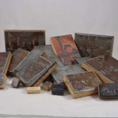 Antigüedades: LOTE DE PLANCHAS, CLICHÉS O MOLDES DE IMPRENTA.RESTAURANTE JOCKEY MADRID.ADOLFO DE LANDECHO,1950. Lote 55684941