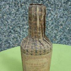 Antigüedades: ANTIGUA BOTELLA FRASCO CAJA DE FARMACIA, JARABE DE QUEBRACHO DE LABORATORIO MÚNERA - PRECINTADO. Lote 55699302