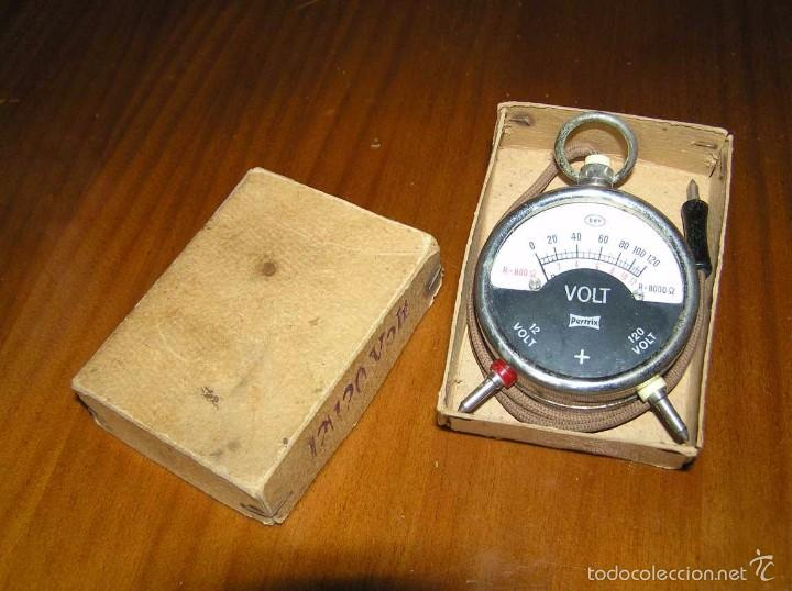 Antigüedades: ANTIGUO VOLTIMETRO DE BOSILLO EN SU CAJA ORIGINAL ANTIQUE POCKET VOLTMETER - Foto 16 - 55818580