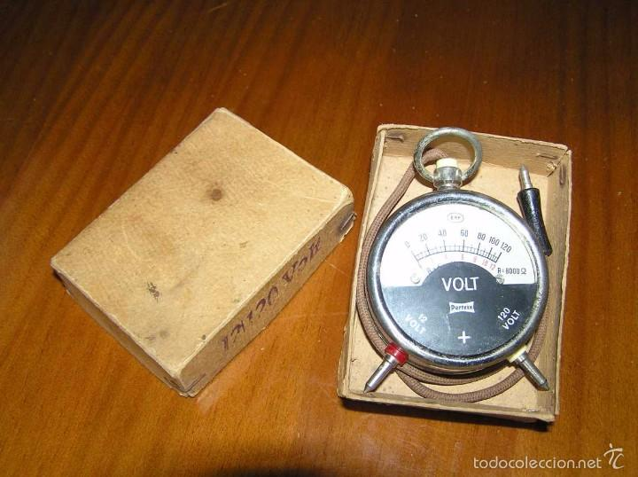 Antigüedades: ANTIGUO VOLTIMETRO DE BOSILLO EN SU CAJA ORIGINAL ANTIQUE POCKET VOLTMETER - Foto 19 - 55818580
