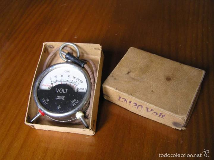 Antigüedades: ANTIGUO VOLTIMETRO DE BOSILLO EN SU CAJA ORIGINAL ANTIQUE POCKET VOLTMETER - Foto 23 - 55818580