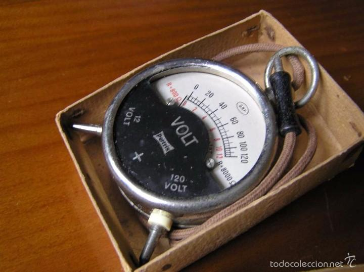 Antigüedades: ANTIGUO VOLTIMETRO DE BOSILLO EN SU CAJA ORIGINAL ANTIQUE POCKET VOLTMETER - Foto 25 - 55818580