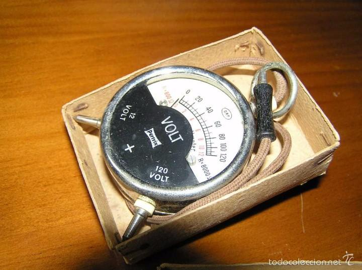 Antigüedades: ANTIGUO VOLTIMETRO DE BOSILLO EN SU CAJA ORIGINAL ANTIQUE POCKET VOLTMETER - Foto 26 - 55818580