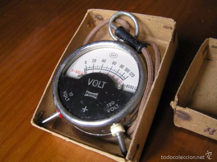 Antigüedades: ANTIGUO VOLTIMETRO DE BOSILLO EN SU CAJA ORIGINAL ANTIQUE POCKET VOLTMETER - Foto 28 - 55818580