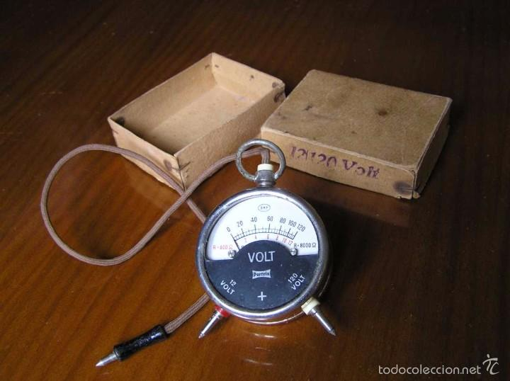 Antigüedades: ANTIGUO VOLTIMETRO DE BOSILLO EN SU CAJA ORIGINAL ANTIQUE POCKET VOLTMETER - Foto 30 - 55818580