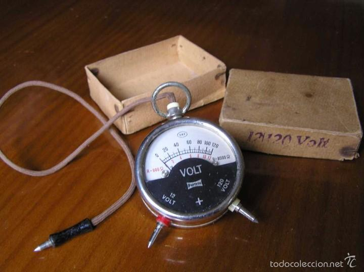 Antigüedades: ANTIGUO VOLTIMETRO DE BOSILLO EN SU CAJA ORIGINAL ANTIQUE POCKET VOLTMETER - Foto 32 - 55818580