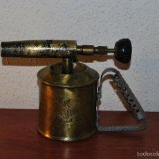 Antigüedades: SOPLETE DE SOLDAR MARCA SERROT - LATÓN Y HIERRO. Lote 55903803