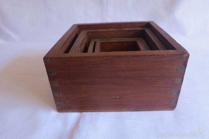 Antigüedades: medidas cuadradas para medir el grano - Foto 2 - 56003331