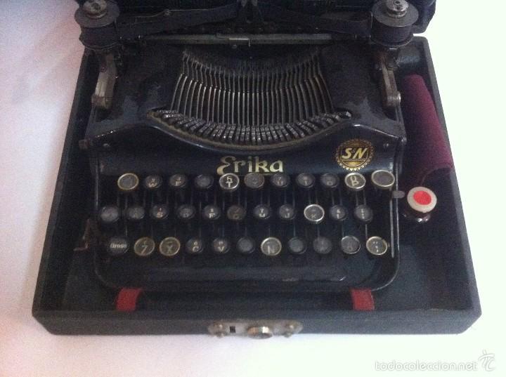 Antigüedades: Maginifica Maquina de escribir ERIKA S&N Antigua - Foto 2 - 56101342