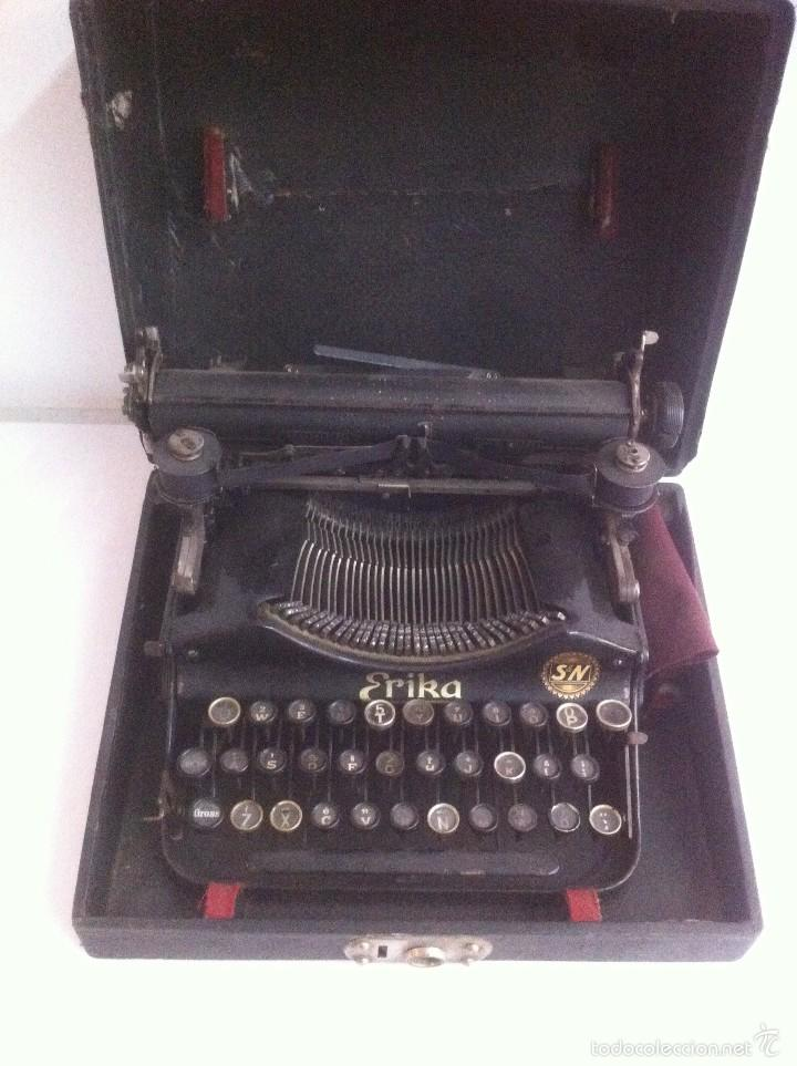 Antigüedades: Maginifica Maquina de escribir ERIKA S&N Antigua - Foto 3 - 56101342