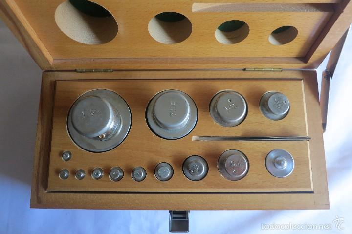 Antigüedades: caja de pesas calibradas - Foto 2 - 56115171